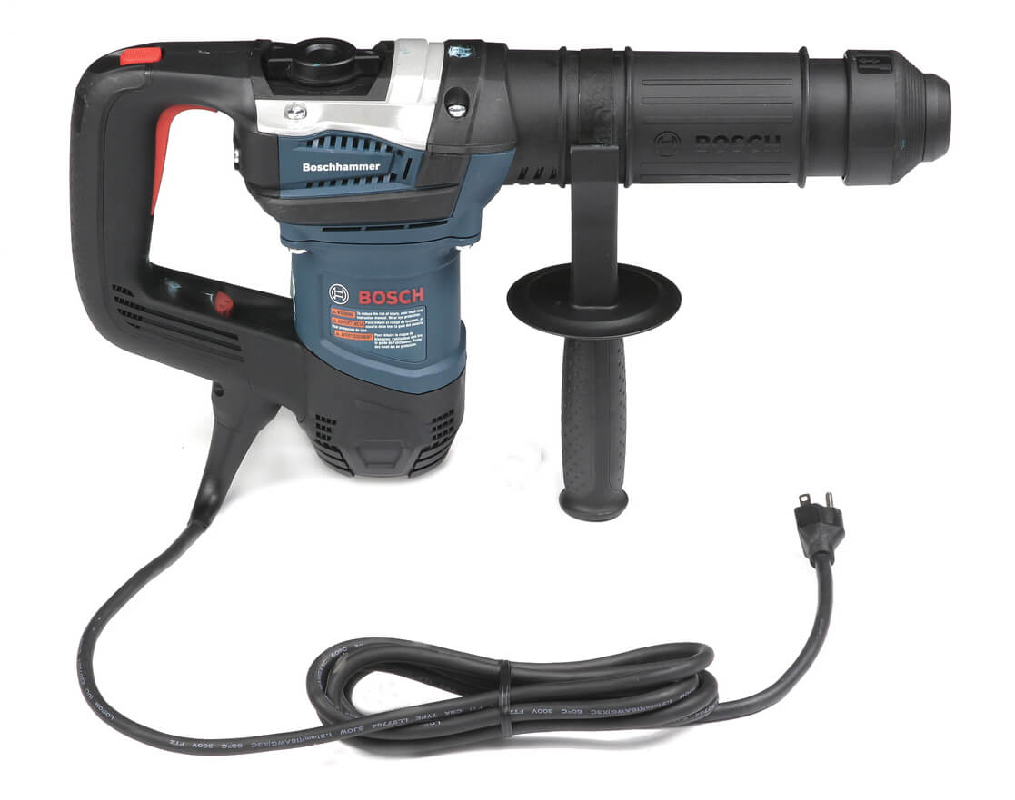 RIv-Nail rapid install system corded hammer includes Bosch three-year warranty.